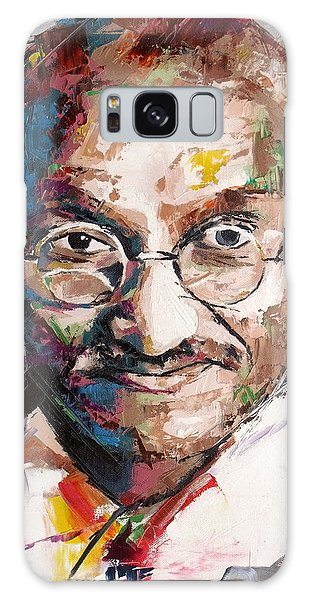 Mahatma Gandhi Galaxy Case by Richard Day