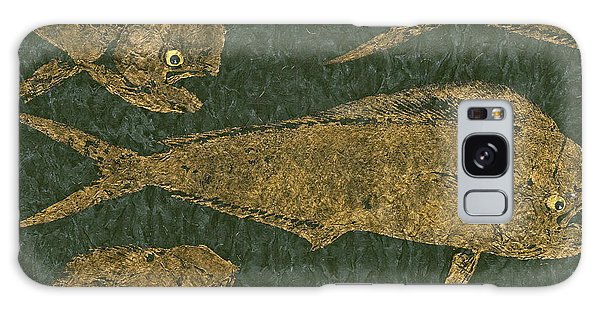 Mahi Mahi On Black W/ Gold Thread Unryu Paper Galaxy Case