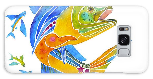 Mahi Saltwater Fish Art Gifts Galaxy Case by Jo Lynch
