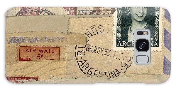 Mail Collage Eva Peron Galaxy Case