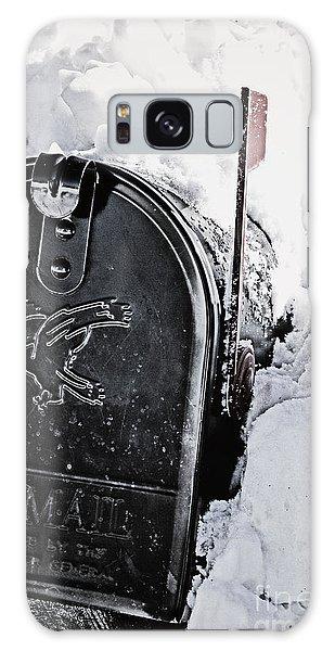 Mailbox Buried In Snow Galaxy Case by Birgit Tyrrell