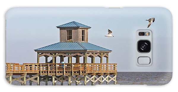 Main Pier At Pleasure Island Galaxy Case by D Wallace