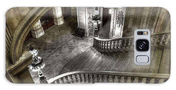 Main Staircase From Above Galaxy Case by Ed Cilley