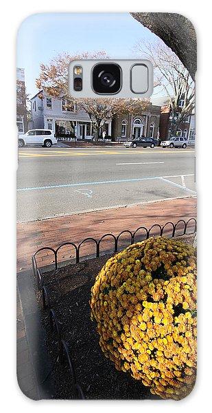 Main Street East Hampton New York Galaxy Case by Bob Savage