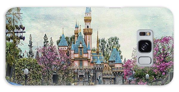 Main Street Sleeping Beauty Castle Disneyland Textured Sky Galaxy Case