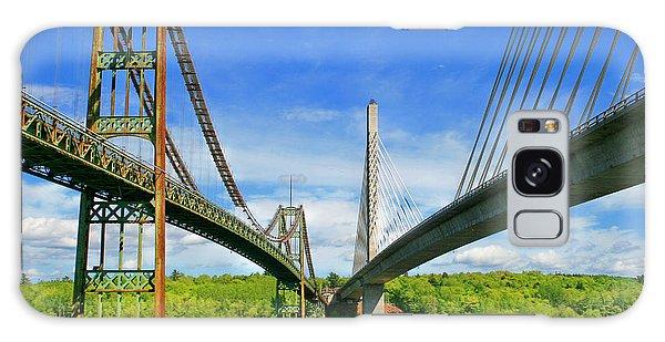 Maine Bridges Galaxy Case by Barbara West
