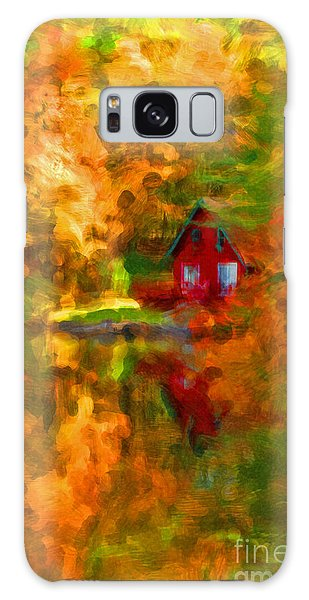 Maine Cabin In The Woods Galaxy Case