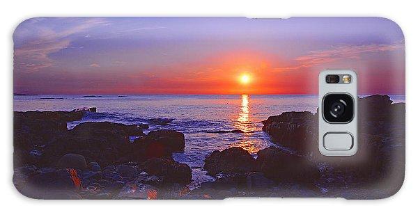 Maine Coast Sunrise Galaxy Case