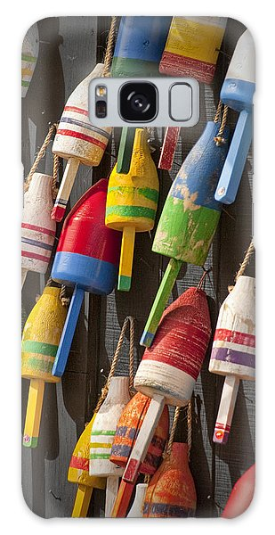 Maine Fishing Buoys Galaxy Case