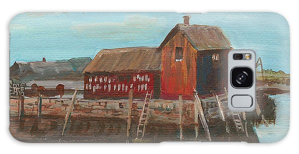 Maine Fishing Shack Galaxy Case
