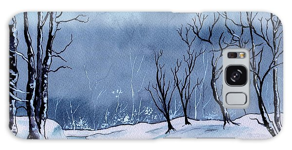 Maine Snowy Woods Galaxy Case