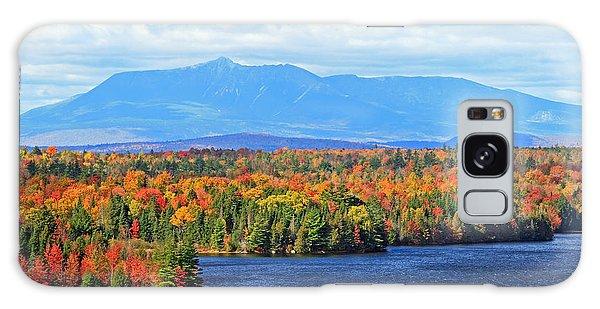 Maine's Mt. Katahdin In Autumn Galaxy Case by Barbara West