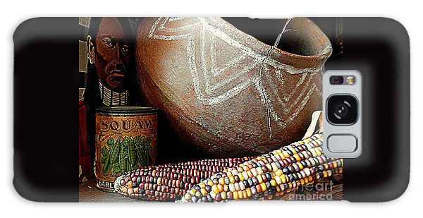 Pottery And Maize Indian Corn Still Life In New Orleans Louisiana Galaxy Case by Michael Hoard