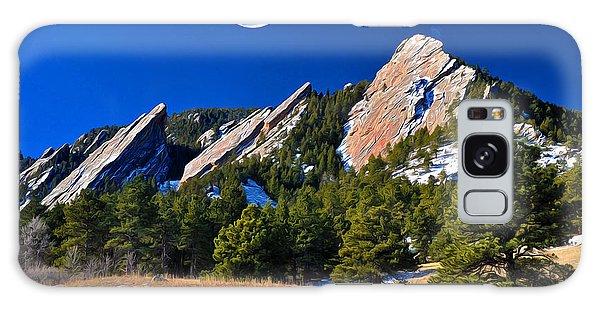 Majestic Flatirons Of Boulder Colorado Galaxy Case
