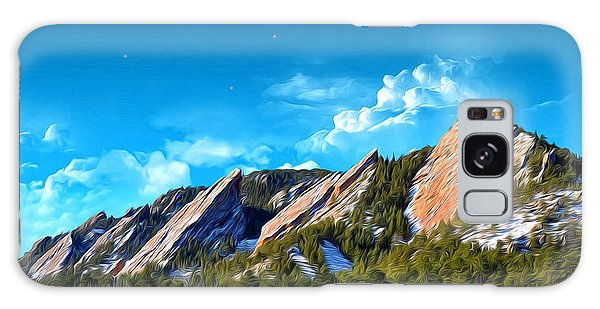 Majestic Flatirons Of Boulder Colorado With Big Moon Galaxy Case