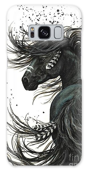 Majestic Spirit Horse 65 Galaxy Case by AmyLyn Bihrle