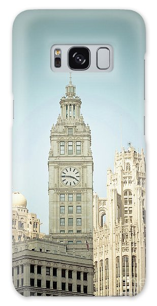 Majestic Vintage Buildings Chicago Galaxy Case by Linda Matlow