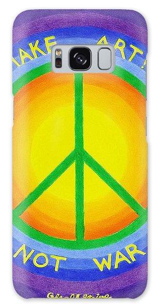 Make Art Not War Galaxy Case