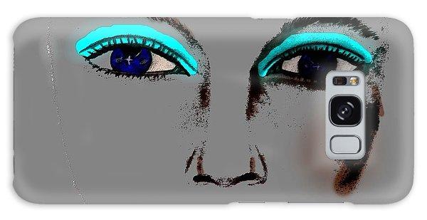 Make Up Digital Painting By Saribelle Rodriguez Galaxy Case by Saribelle Rodriguez