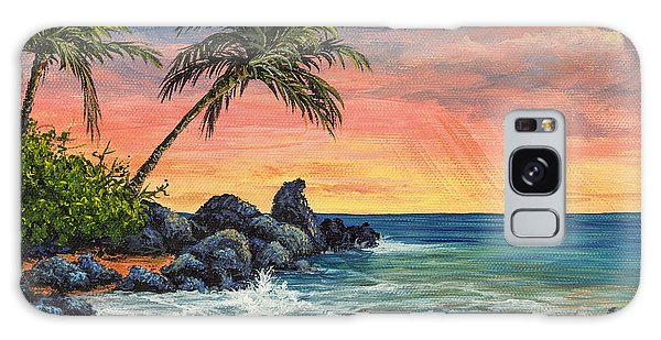 Makena Beach Sunset Galaxy Case by Darice Machel McGuire