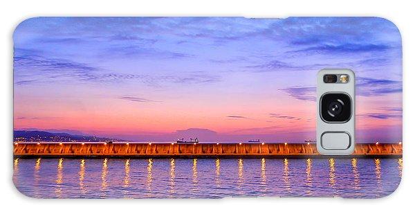 Malaga Pink And Blue Sunrise  Galaxy Case by Debra Martz