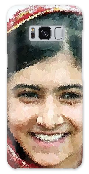 Malala Yousafzai Portrait Galaxy Case