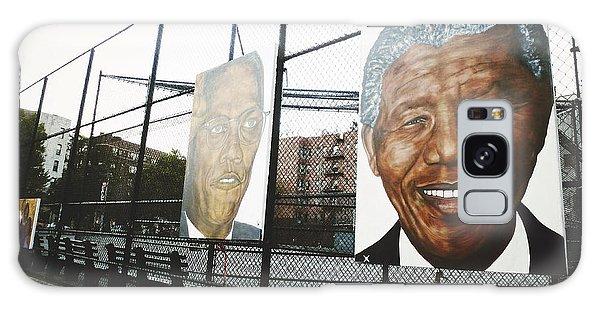 Malcom X Galaxy Case - Malcolm And Mandela by Natasha Marco