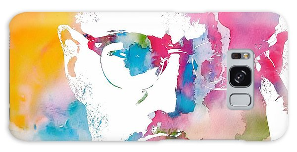 Human Rights Galaxy Case - Malcolm X Watercolor by Dan Sproul