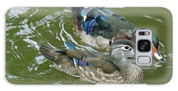 Male And Female Wood Ducks Galaxy Case