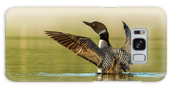 Loon Galaxy S8 Case - Male Common Loon Drying His Wings by Chuck Haney