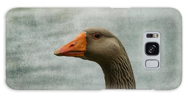 Male Graylag Goose Profile Galaxy Case