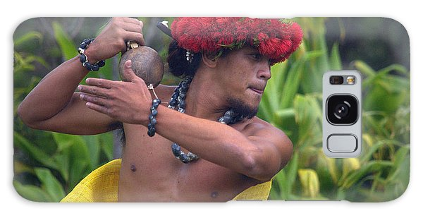 Male Hula Dancer With Small Gourd Instrument Galaxy Case by Lori Seaman