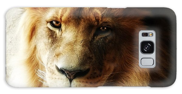 Male Lion Face Close Up Galaxy Case