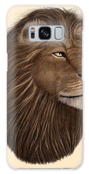 Male Lion Portrait Galaxy Case