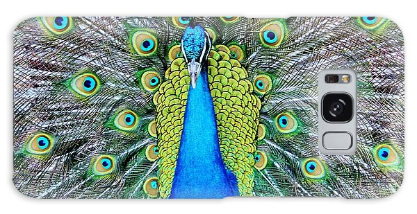 Male Peacock Galaxy Case by Cynthia Guinn