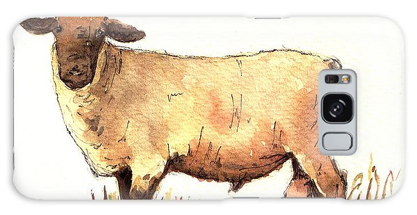 Sheep Galaxy Case - Male Sheep Black by Juan  Bosco