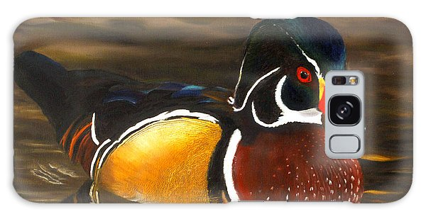 Male Wood Duck Portrait Galaxy Case