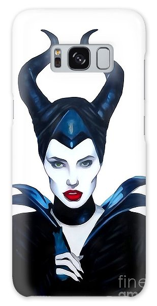 Maleficent Watercolor Galaxy Case by Justin Moore