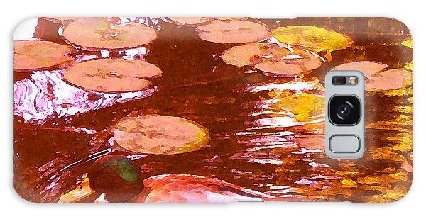 Mallard Duck On Pond 3 Square Galaxy Case