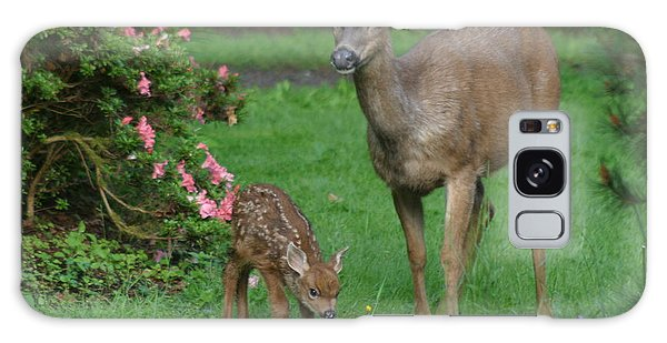 Mama Deer And Baby Bambi Galaxy Case
