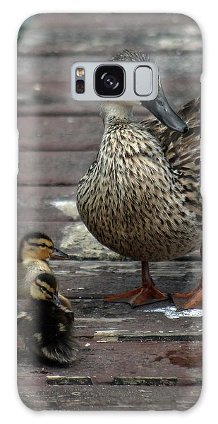 Mama Duck And Ducklings Galaxy Case