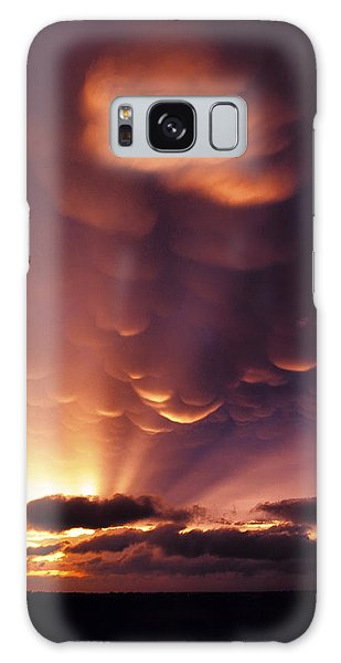 Mammatus Sunset Over Colorado Galaxy Case