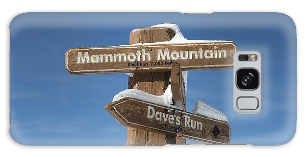 Mammoth Mountain Sign In Mono County Galaxy Case by Carol M Highsmith