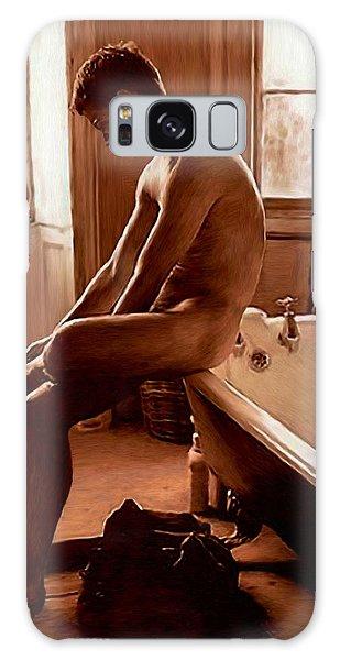 Man And Bath Galaxy Case