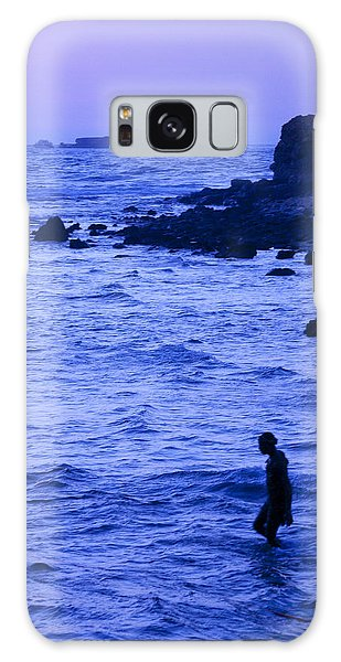 Man And Lighthouse Galaxy Case