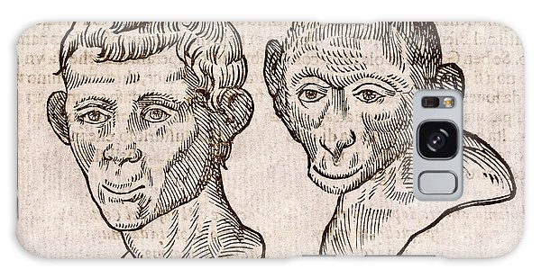 Traits Galaxy Case - Man And Monkey's Head by Middle Temple Library