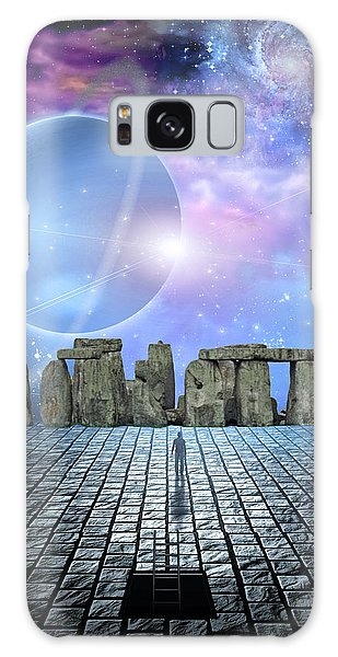 Man Before Stone Structure Galaxy Case by Bruce Rolff