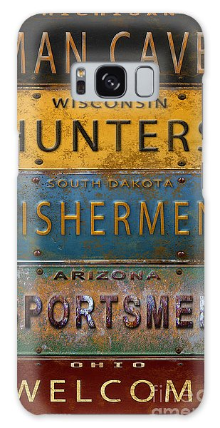 Sportsman Galaxy Case - Man Cave-license Plate Art by Jean Plout