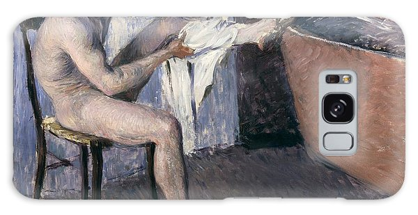 Sitting Nude Galaxy Case - Man Drying His Leg  by Gustave Caillebotte