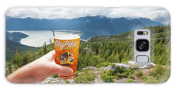 Sly Galaxy Case - Man Holding Ice Cold Beer Near Summit by Christopher Kimmel